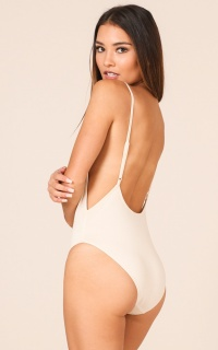 Get Back Up Bodysuit in Nude