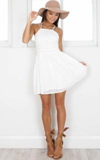 Girl Habits dress in white