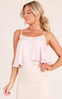Good Deeds top in blush