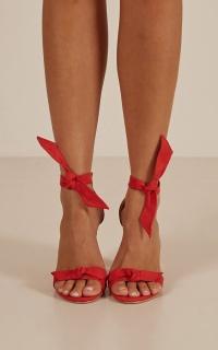 Billini - Goya Heels In Red Micro