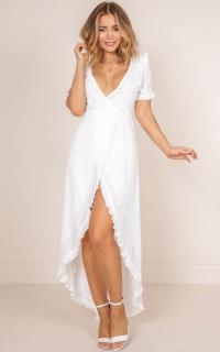 I Found You Maxi Dress In White