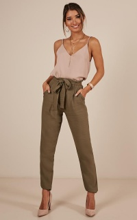 Influence Pants in khaki