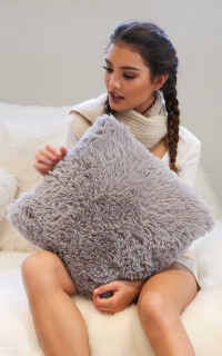 Introduce Yourself cushion cover grey
