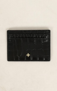 Peta and Jain - Izzy Card Holder In Black Croc