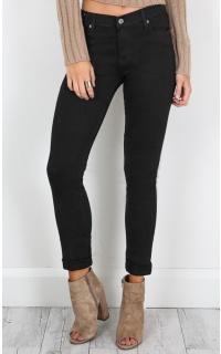 Tyra skinny jeans in black denim