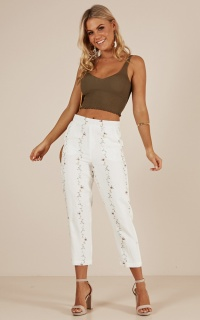 Katelyn pants in cream floral