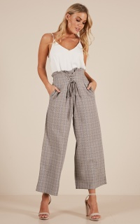 Kick It Up pants in Grey Check