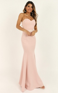 Lasting Moment Maxi Dress In Blush