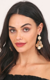Learn To Breathe earrings in gold