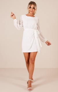 Lilliana dress in white