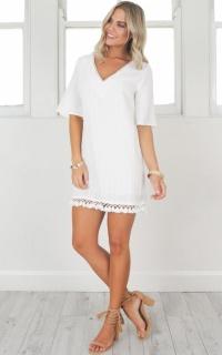 Lionheart shift dress in white