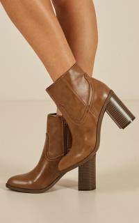 Lipstik - Gianni boots in tan