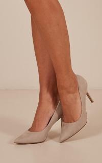 Lipstik - Theadora Heels In Taupe Micro