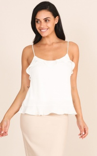 Little Bit Of Love top in white
