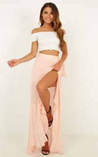 Correlation Maxi Skirt In Blush
