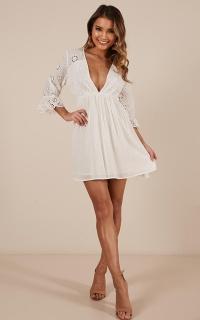 Loving It Dress In White