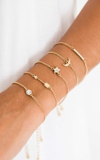 Lucky Charms 5pc bracelet set in gold