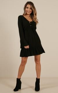 Luminous Love dress in black
