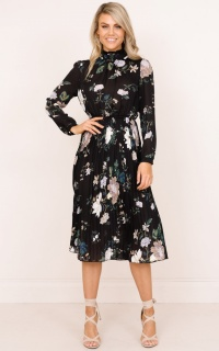 Make This Last dress in black floral