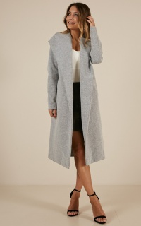 New Yorks Calling Coat In Grey