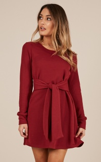 One And Done Dress In Wine