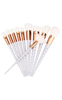 Unicorn Makeup brush set in lilac - 10 pc