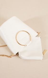 The Initiation bag and purse set in white