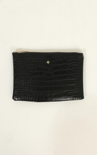 Peta and Jain - Malone Purse In Black Croc