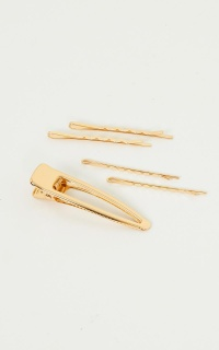 Wildest Ones Hair Clip 3 Pack in Gold