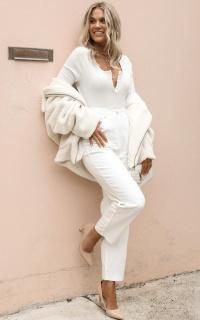Sheila Jeans In White Denim