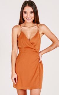 Slip It On dress in rust
