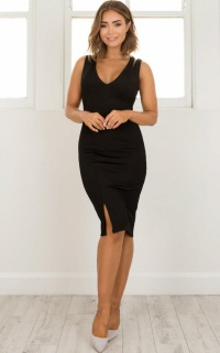 Slow And Steady Dress in black