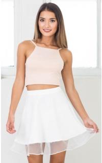 Spinning Plates skirt in white