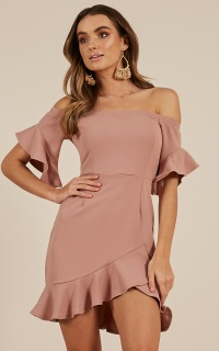 Still Got It dress in  dusty rose