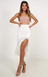 Summer Midi Skirt In White