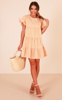 Sweet Sunshine Dress In Yellow Gingham