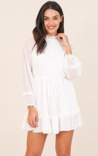 Take It All dress in white