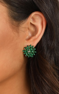 Take My Heart Earrings In Emerald