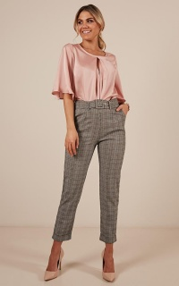 The Cool Girl Pants In Grey Check