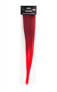 The Gypsy Shrine - Red Ombre Hair Extensions 4 pack