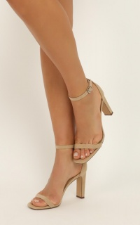 Therapy - Luna Heels In Cashew Micro