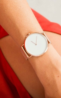 Time Is Money watch in rose gold