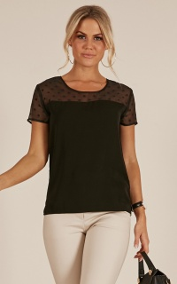 Morning Rise Top In Black