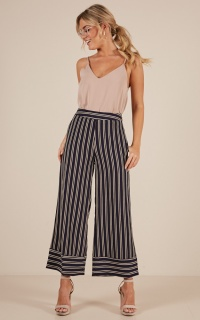 Memory Lane Pants In Navy Stripe