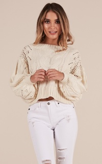 Back For More Knit Sweater In Cream