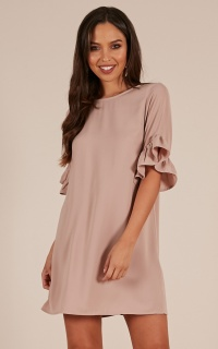 Truly Yours Dress In Mocha