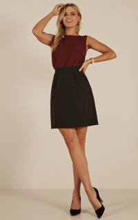 Crunch Time Skirt in Black