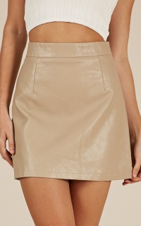 Tongue Tied skirt in beige