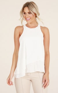 Stay Awake Top In White