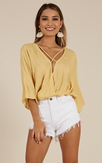 City of Love top in yellow